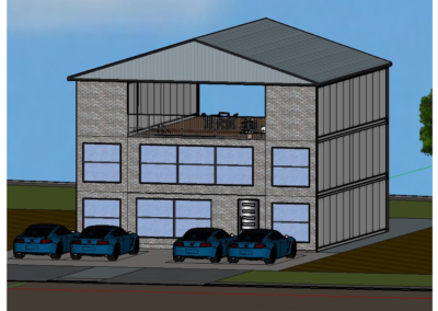 3-Story Front Render